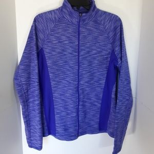 Tek Gear purple zip up jacket.  Like new. Large